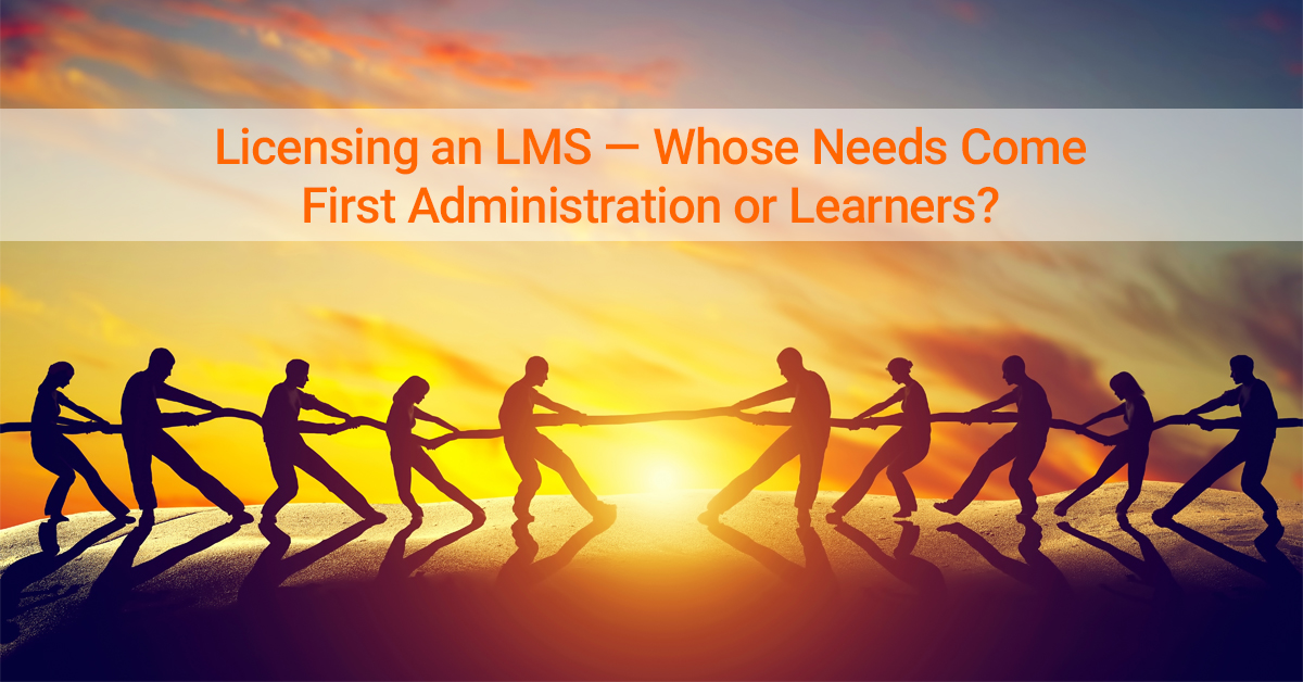 Licensing an LMS learner